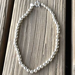 Ralph Lauren Polished Silver Beaded Necklace!